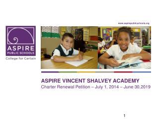 Aspire Vincent  shalvey  academy
