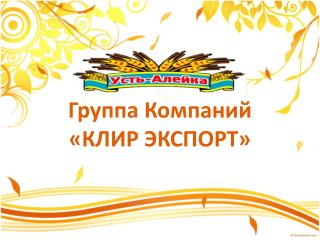 Группа Компаний «КЛИР ЭКСПОРТ»