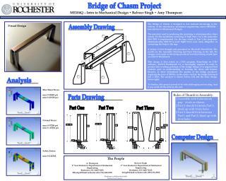 ME104Q – Intro to Mechanical Design • Balveer Singh • Amy Thompson