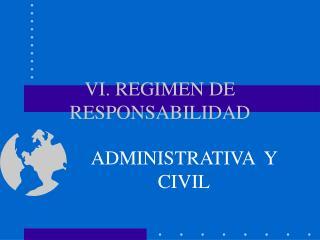 VI. REGIMEN DE RESPONSABILIDAD