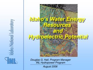 Idaho's Water Energy Resources  and  Hydroelectric Potential