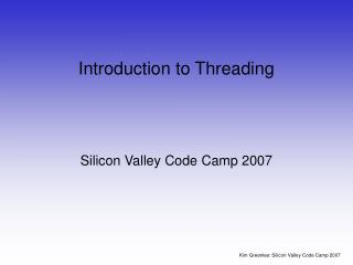 Introduction to Threading