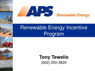 Renewable Energy Incentive Program