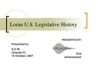 Loran U.S. Legislative History