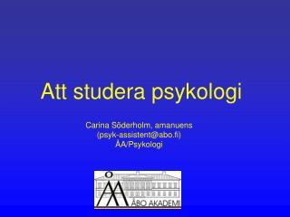 Att studera psykologi
