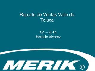 Reporte de Ventas Valle de Toluca