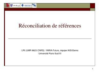 Réconciliation de références