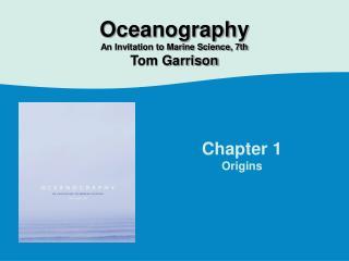 Chapter 1 Origins