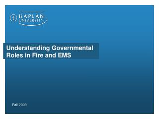 Understanding Governmental Roles in Fire and EMS