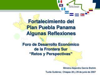 Fortalecimiento del Plan Puebla Panama Algunas Reflexiones