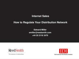 Internet Sales How to Regulate Your Distribution Network