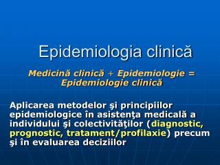 Epidemiologia clinică