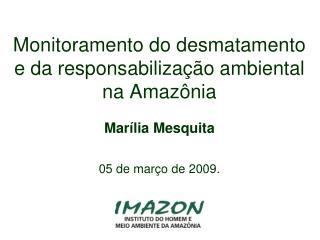 Monitoramento do desmatamento e da responsabilização ambiental na Amazônia