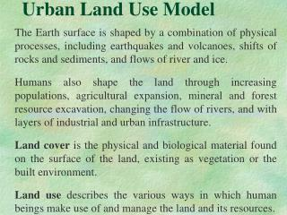 Urban Land Use Model