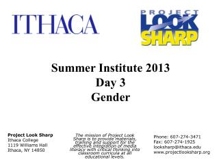 Project Look Sharp Ithaca College 1119 Williams Hall Ithaca, NY 14850