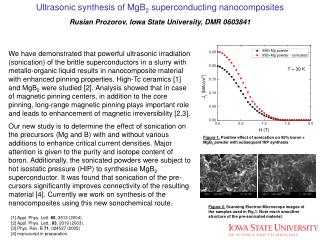 Ultrasonic synthesis of MgB 2  superconducting nanocomposites