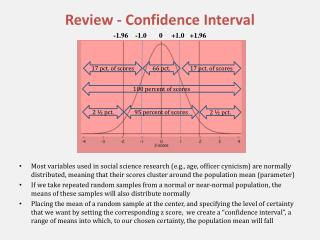 Review - Confidence Interval