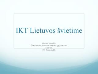 IKT Lietuvos švietime
