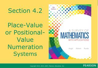 Section 4.2 Place-Value or Positional-Value Numeration  Systems
