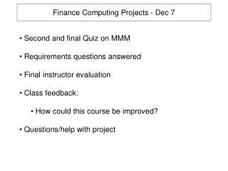 Finance Computing Projects - Dec 7