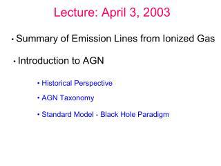 Lecture: April 3, 2003