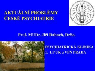 AKTUÁLNÍ PROBLÉMY ČESKÉ PSYCHIATRIE