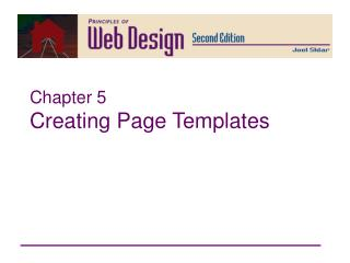 Chapter 5 Creating Page Templates