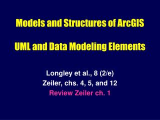 Models and Structures of ArcGIS   UML and Data Modeling Elements