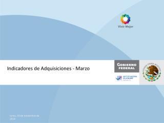 Indicadores de Adquisiciones - Marzo