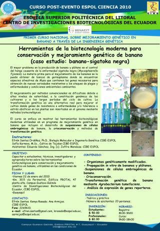 CURSO POST-EVENTO ESPOL CIENCIA 2010