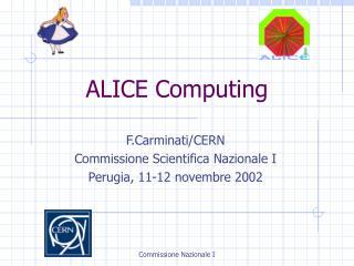 ALICE Computing