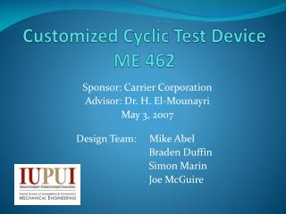 Customized Cyclic Test Device ME 462