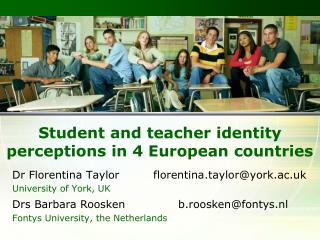 Student and teacher identity perceptions in 4 European countries
