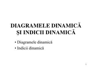 DIAGRAMELE DINAMIC Ă ŞI INDICII DINAMICĂ