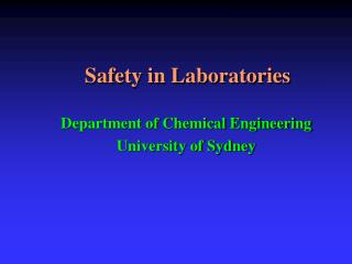 Safety in Laboratories