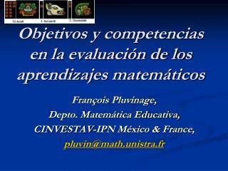 Objetivos y competencias en la evaluación de los aprendizajes matemáticos