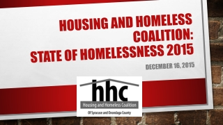 Focus Groups Homelessness in our community