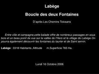 Labège Boucle des deux Fontaines D'après Les Chemins Tolosans
