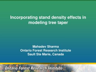 Ontario Forest Research Institute