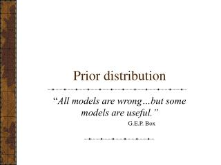 Prior distribution