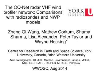 The OQ-Net radar VHF wind profiler network: Comparisons with radiosondes and NWP models