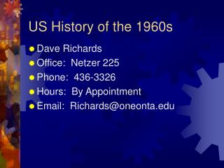 US History of the 1960s