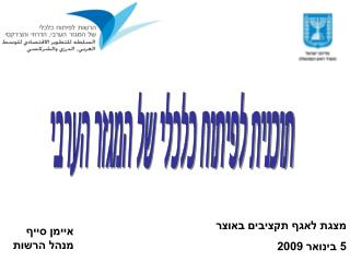 תוכנית לפיתוח כלכלי של המגזר הערבי