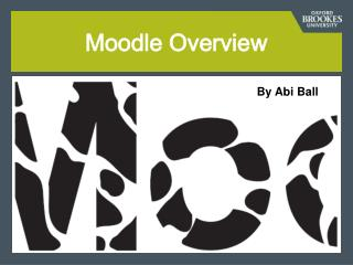 Moodle Overview