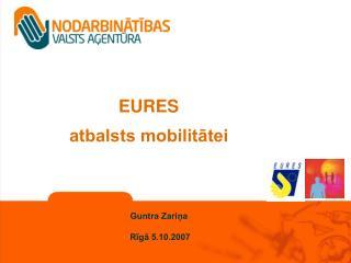 EURES atbalsts mobilitātei