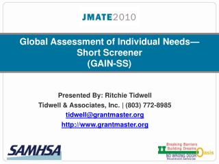 Global Assessment of Individual Needs—Short Screener (GAIN-SS)