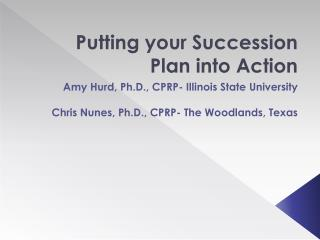 Putting your Succession Plan into Action