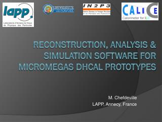 Reconstruction,  analysis  &  simulation software FOR Micromegas DHCAL PROTOTYPES