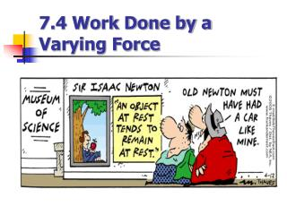 7.4 Work Done by a Varying Force