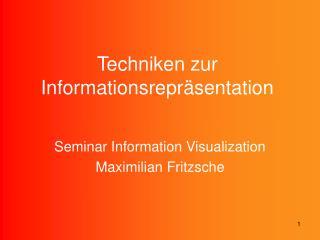 Techniken zur Informationsrepr sentation